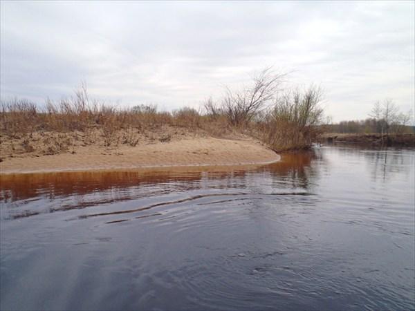 Река Остер. Песчаный пляж.