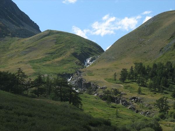 Водопад на Верхнем Тура-оюке