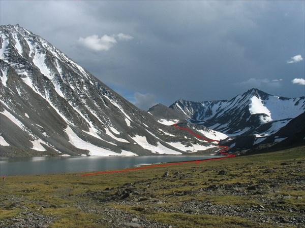 Путь подхода под перевал Елангаш З.