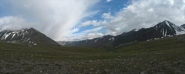 Вид на долину р. Тара с перевала Ажу