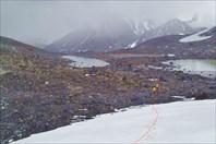 Группа озер на спуске с перевала