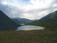 Вид на озера Джанкель и Атаккель с перевала Ажу.