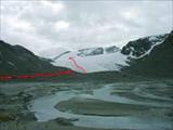 Озеро под ледником