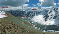 Вид с перевала Рублевский на долину Елангаш