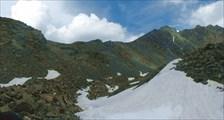 Седловина перевала Елангаш З. Вид с южной стороны