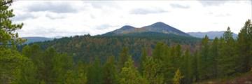 Вид с перевала на в. Дарьина