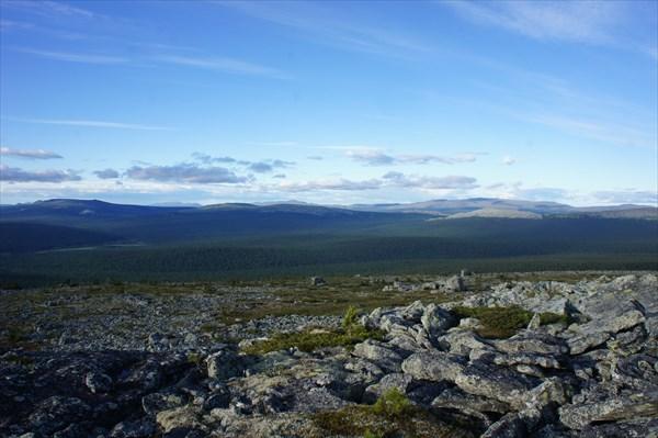 Северный Урал. Вид на северо-восток.