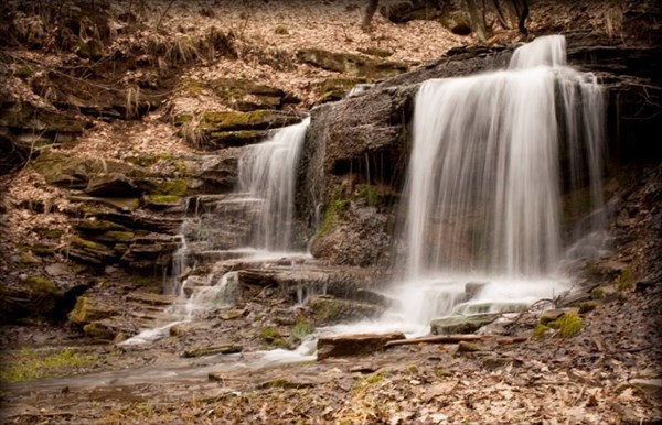 Водопад в Городище.