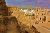 Панорама на город Эль-Джем с лучших зрительных мест