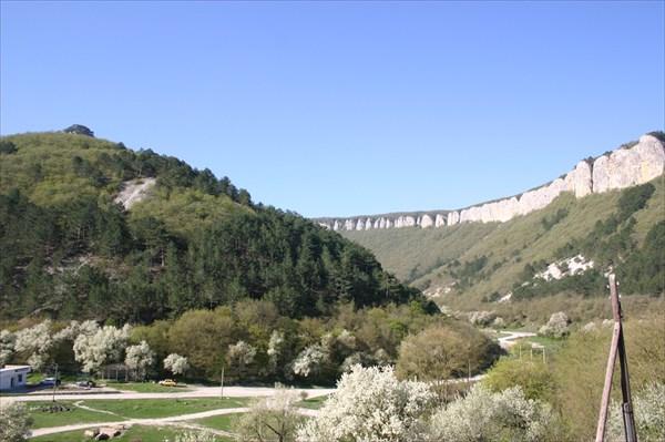 Вид на юг с турстоянки Мангуп-Кале
