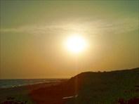 Вечернее солнце Анапы.