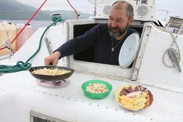 Торжественный завтрак в связи с приплыздом на Монерон