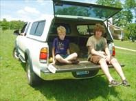 Дети на машине Гленна