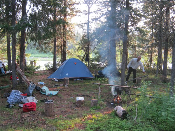 Лагерь после порогов