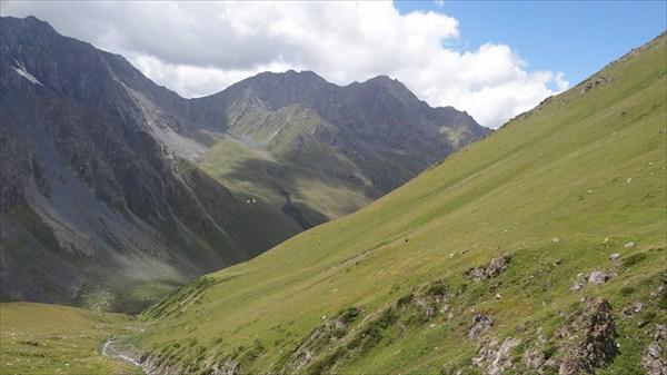 Спуск с перевала