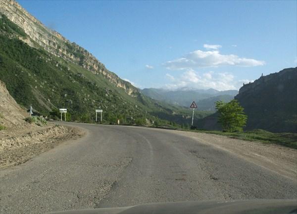 Подъем в гору, где расположено село Гуниб