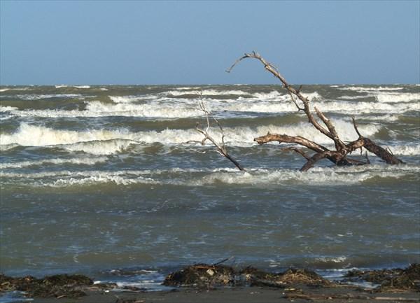 Каспий почти всегда штормит.