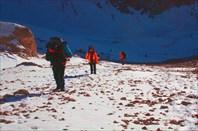 Подъем по длинному перевальному взлету пер.Челикбуйдуран