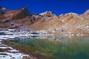 Большое озеро на плато (от места нашей ночевки)