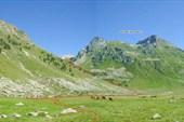 Место слияния истоков р.Джалпакол - Северного и Южного