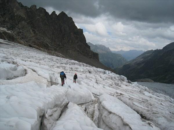 Подъем по леднику Мырды. Ищем проход