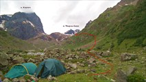 Лагерь в долине р.Мырды.