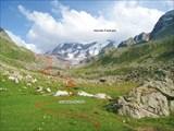 Путь спуска в долину Ак-тебе