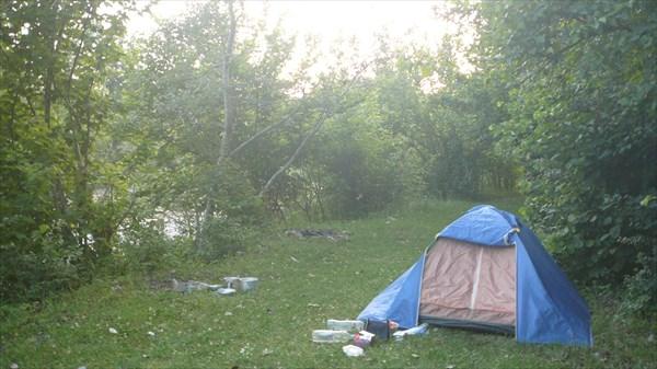 Лагерь недалеко от Ширванской на реке Пшеха