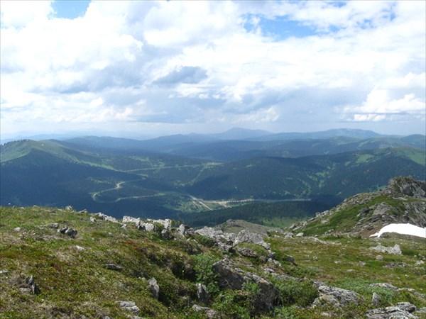 Вид с горы Тушканчик