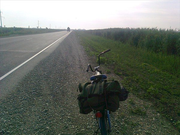 на фото: Двигаюсь  к  Тимашёвску.