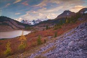Закат на озере Ог.