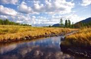 Река Сунтар.  Проточка