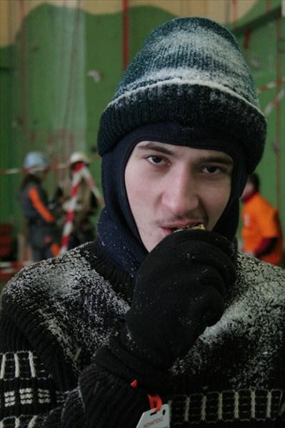 Леша Титов после бегового этапа ориентирование