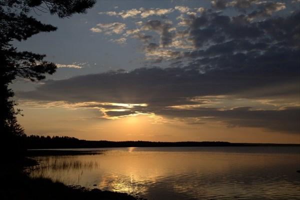 Важ-озеро вечером.