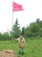 Подняли упавший флаг