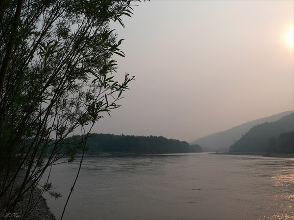 Смог от лесных пожаров