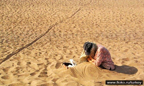 Женщина на песке