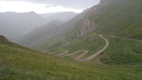 Ошеломительный спуск с перевала Терскей-Торпок (3133 м)