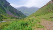 Спуск по ущелью р.Орто-Кой-Суу с перевала Кок-Айрык