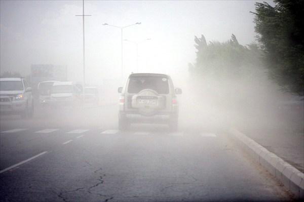 Пыльная буря в Кзылорде