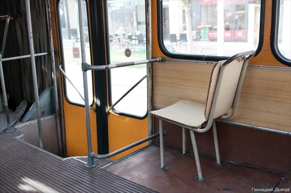 На таком автобусе, нам пришлось ехать до Трогира
