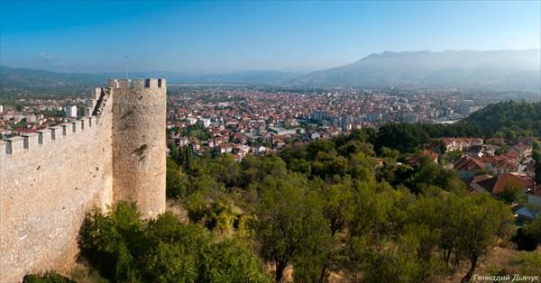 Вид с крепости на Охрид