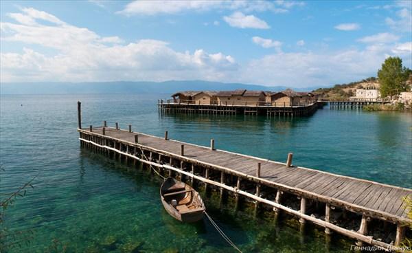 Музей на воде. Озеро Охрид.