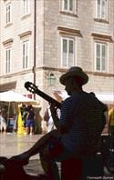 Дубровник. Уличный музыкант.