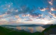 Закат над Которской бухтой