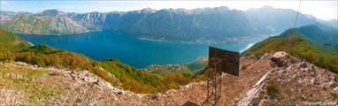 Вершина над Которской бухтой, с видом на Котор