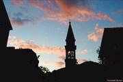 Закат над старой Будвой