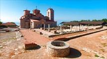 Охрид. Храм Климента и Пантелеймона с античными раскопками.