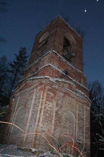 Ночь...Мороз...Заброшенная церковь в Пустополье...