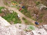 Вид сверху на лагерь